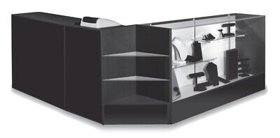 Combo Pos 70 Showcase 48 Counter 24 Cash Well Black Assembled Us Made New