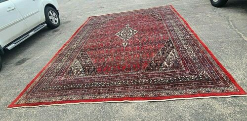 """Vintage Oriental Rug~Hand knotted~ LARGE ~132"""" x 176""""~Circa 1930~1950"""