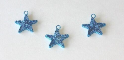 Star Christmas Mini Ornament Blue Metal Wire Decoration Miniature Wire Feather