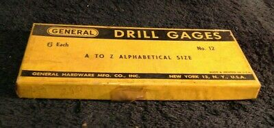 Vintage Pair General Hardware Mfg Co 12 A-z Alphabetical Drill Size Gauge Box