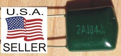 Qty 10 - 100v - 100nf .1uf 0.1uf Audio Poly-film Capacitors Usa Seller