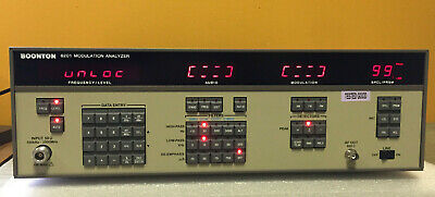 Boonton 8201 100 Khz To 2.5 Ghz Frequency Range Modulation Analyzer. Tested