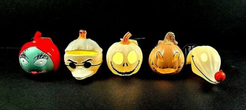 Lot of 5 Disney The Nightmare Before Christmas Halloween Mini Light Up Pumpkins