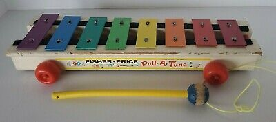 Vintage 1964 #870 Fisher-Price Pull-A-Tune Xylophone An Original Toy FP Wood 372