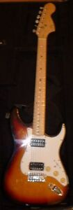 Custom-made Stratocaster guitar with hard-shell case