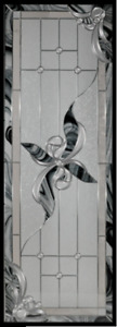 Glass inserts for front doors