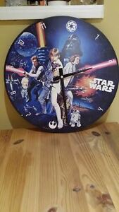 "Star Wars 13.5"" Cordless Wood Wall Clock"
