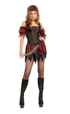 Secret Wishes Women's Playboy Swashbuckler Sexy Pirate Costume Small 6-9 - Playboy Pirate Costume