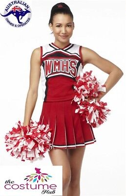 Cheerleader High School Musical fancy Dress Costume Glee Size 6 - 18 AU