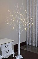 6ft outdoor birch led lighted trees new