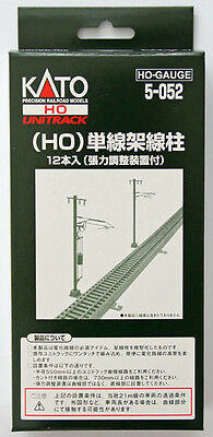 Kato 5-052 Single Track Catenary Poles (12 pcs) (HO scale)