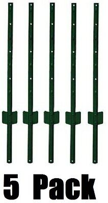 5 Midwest Air 901150a 6 Green Light Duty U Style 14 Gauge Steel Fence Posts
