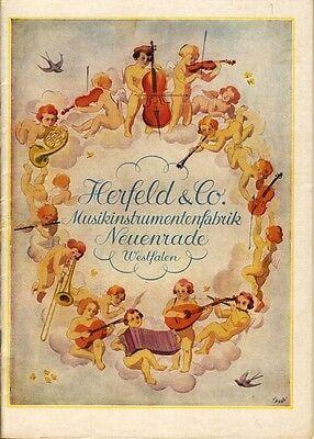 Herfeld Musikinstrumentenfabrik Neuenrade Westfalen Katalog 1955 Musikinstrument