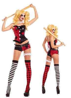 Good Party Costumes (Party King No Good Harlequinn Harley Quinn Batman Womens Halloween Costume)