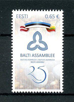 Estonia 2016 MNH Baltic Assembly 25th Anniv 1v Set Flags Stamps