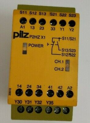 Pilz P2hz X1 24vdc 3no 1nc Pn 774340 Safety Relay Free Shipping