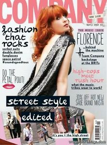 COMPANY,Florence Welch,and the Machine,David Whitehouse,Jameela,Lily Collins NEW