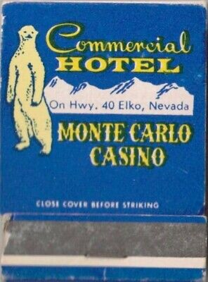 COMMERIAL HOTEL-MONTE CARLO CASINO-ELKI,NEVADA-ONE 1/2 INCHES WIDTH-FULL-VINTAGE
