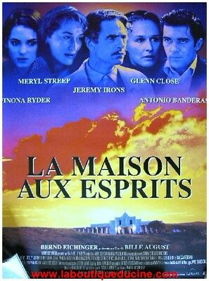 MAISON AUX ESPRITS HOUSE OF THE SPIRITS Affiche Cinéma Movie Poster MERYL STREEP