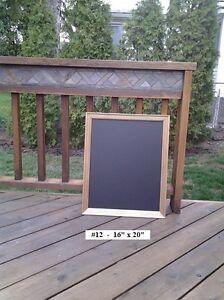 """Gold Antique Framed Chalkboard 16"""" x 20"""" plus wooden frame"""