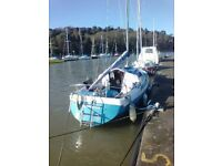 GALION 22 SAILING BOAT YACHT FISHING BOAT REQUIRES TIDYING BASED IN CONWY