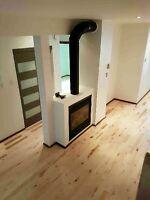 Installation de plancher de bois franc, flottant et céramique