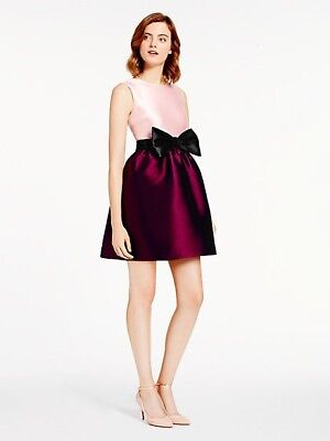 BNWT KATE SPADE NEW YORK SWIFT DRESS PINK BURGUNDY SIZE 0 $448 SOLD OUT SIZE!!!
