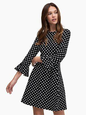Kate Spade New York Lia Polka Dot Ponte Dress Size S, L - NWT