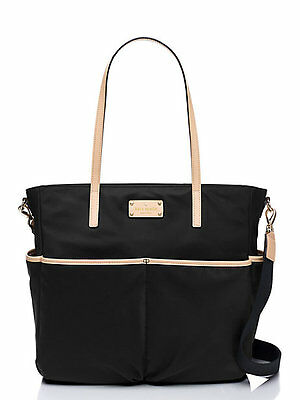 NWT Kate Spade New York Black Kennedy Park Honey Nylon Baby Diaper Bag Tote New