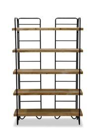 Industrial style bookshelves