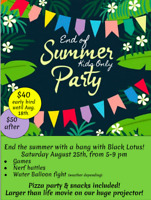 Kid's end of summer party!
