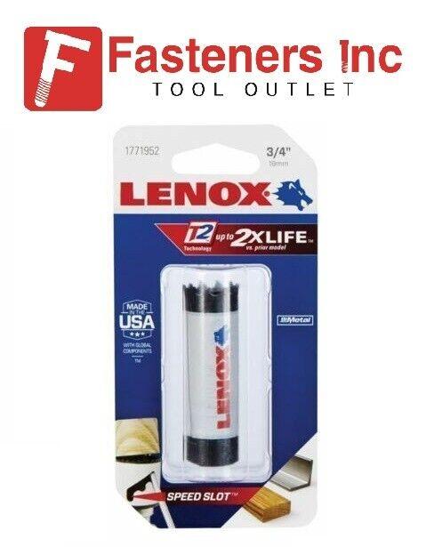 """LENOX 3/4"""" 19 MM Bi-Metal Speed Slot T2 Hole Saw 1771952 MAD"""