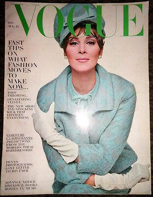Vtg Vogue 1963 Jean Shrimpton Federico Fellini Peter Beard Horst P. Irving Penn