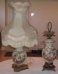 PLUSIEURS BELLES LAMPES DE TABLE ET CENDRIER VOIR LES PHOTOS