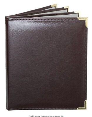 Menucoverman Case Of 5 Menu Covers 6 View 8.5x14 Brown