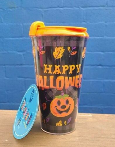 Disney Parks Happy Halloween 2021 Pumpkin Mickey Travel Sipper Cup Fall + Magnet