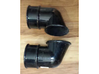 2x Drain pipe gutter shoe 68mm and glue