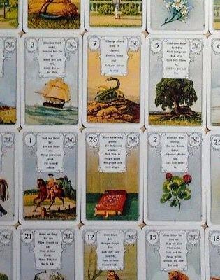 Eule Karten (Lenormand Wahrsagekarten rote Eule Kartendeck 36 Karten )