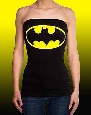 Dc Comics BATMAN - BATGIRL Tube Top Lace-Up back CORSET Shirt Size- S M L Corset Tube Top