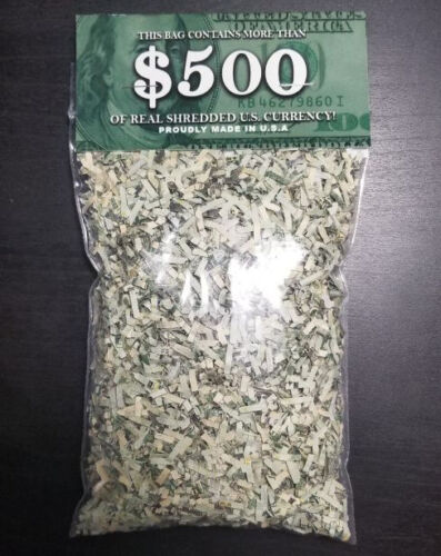 100% Real Shredded Cash Money - LARGEST 2oz+ BAG With $300+ Value - Gag Gift