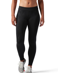 XL - REEBOK CROSSFIT LEGGING Womens Long Tights - Black