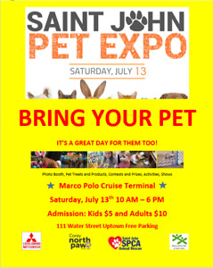 Pet Expo Family event $5 for kids $10 adults