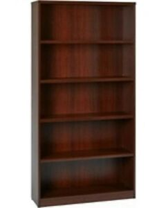"New in Box Star Quality Furniture 66"" Five Shelf Book Case Wood"