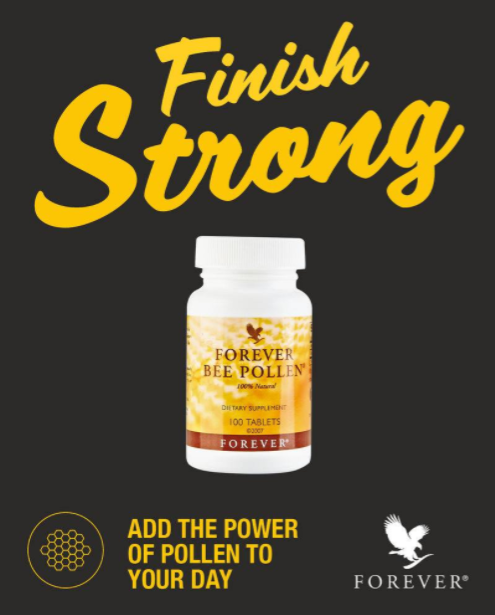 Forever Bee Pollen (100 tablet)- Nutrients, Natural Energy & Stamina -Exp. 12/23
