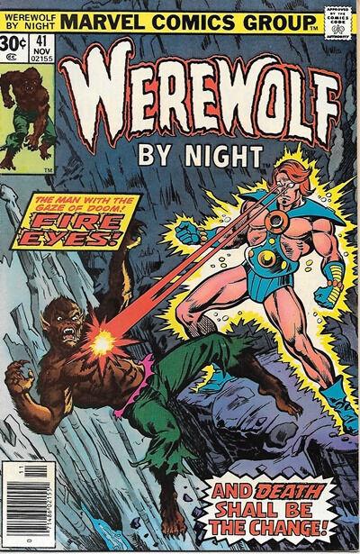 Werewolf By Night Comic Book #41, Marvel Comics 1976 NEAR MINT