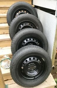 4 Bridgestone Blizzak 195 65 15 on Toyota OEM Rims 5 x 100 mm
