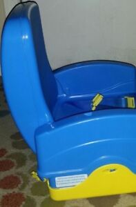 Portable travel booster seat with tray