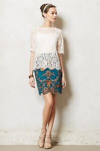 NWT Anthropologie $158 Rosette Skirt By Yoana Baraschi Size 6
