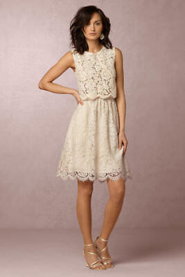 new BHLDN Jenny Yoo Lydia Lace Skirt SOLD OUT color ivory, size 2 xs