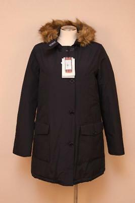 $675 Women Woolrich x JCrew Collab Arctic Parka Navy XS John Rich Goosedown Coat